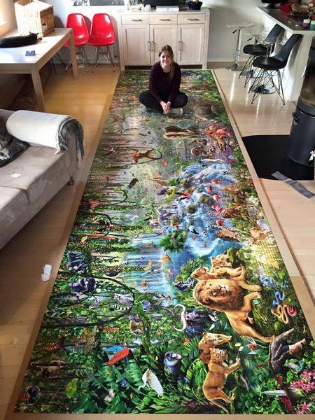 Датська студентка за 460 годин зібрала найбільший в світі пазл