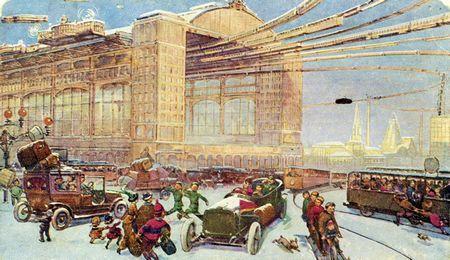 Москва в 23-м столітті, який її представляли художники в 1914 році