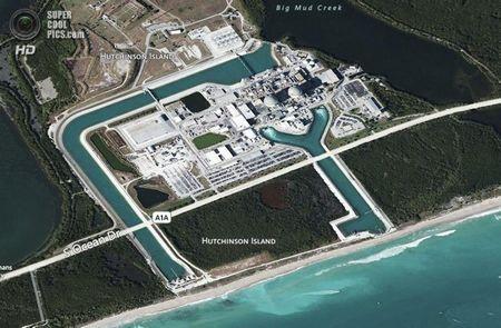 США. Форт-Пірс, Флорида. Схема атомної електростанції Сент-Люсі, керованою компанією Florida Power & amp- Light. (Greg Lovett / The Palm Beach Post)