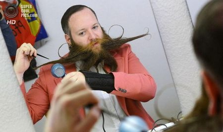Німеччина. Лайнфельден-Ехтердінген, Баден-Вюртемберг. 2 листопада. Чемпіонат світу з бороди і вусів. (FRANZISKA KRAUFMANN / AFP / Getty Images)