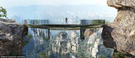 У китаї побудують ще один високогірний міст зі скляною підлогою